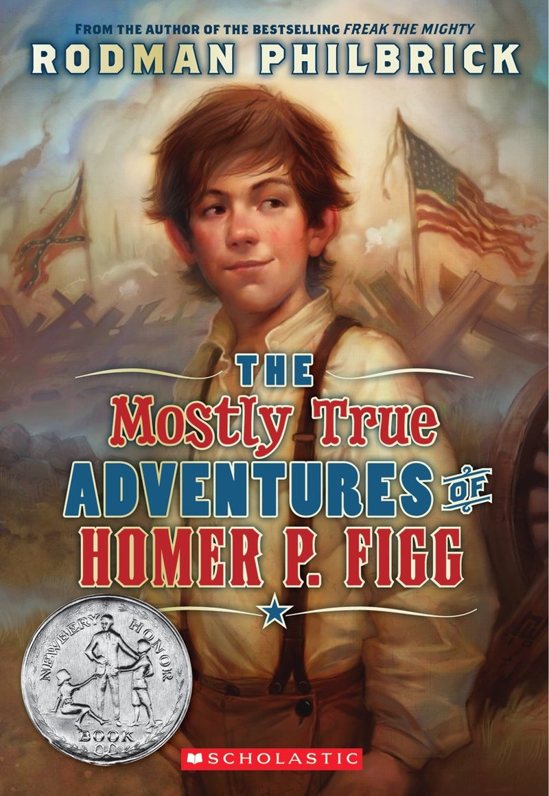 Cover image of the book, The Mostly True Adventures of Homer P. Figg