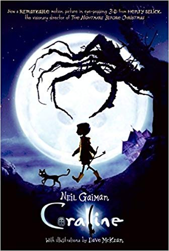 Cover image of the book, Coraline