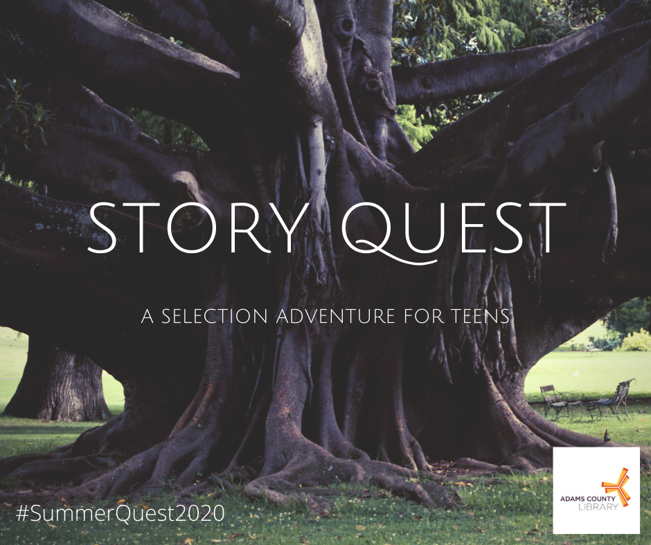 Story Quest: A Selective Adventure for Teens #SummerQuest2020 at the Adams County Library System.