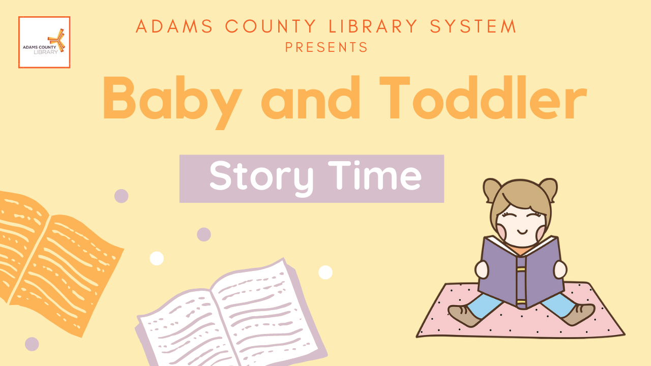 Image of flier for Digital Baby and Toddler Time