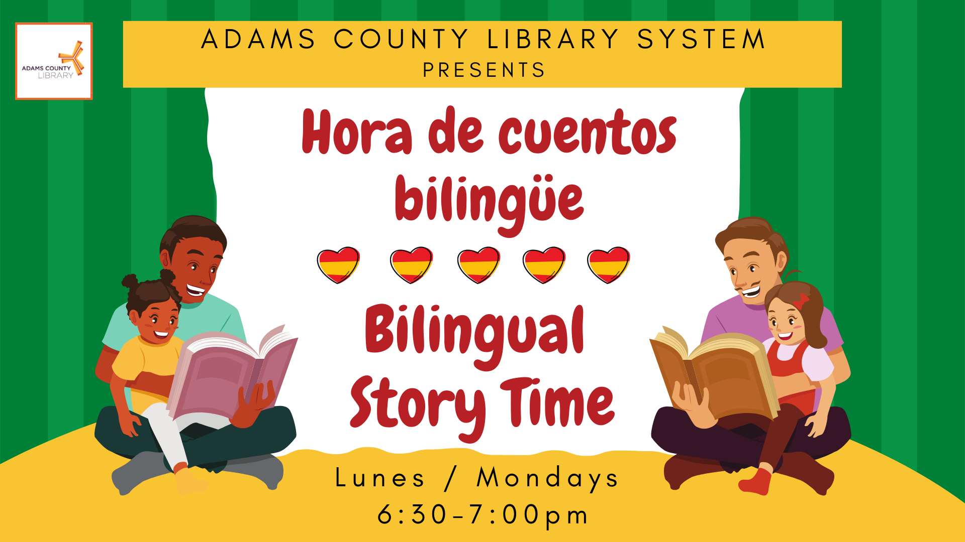 Image of the flyer for the bilingual storytime program