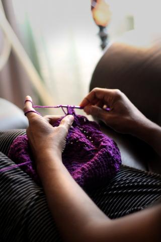 knitting hands
