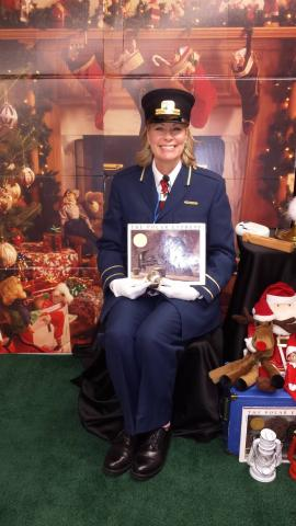 Beth Rebert as The Conductor of The Polar Express.