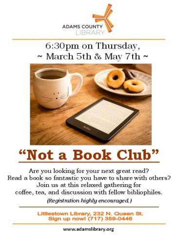 Join us on Thursday, March 5, 2020 and Thursday, May 5, 2020 at 6:30pm for a relaxed gathering of bibliophiles. Tea and coffee will be served. Registration is highly encouraged.