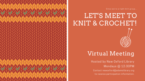 let's meet to knit and crochet