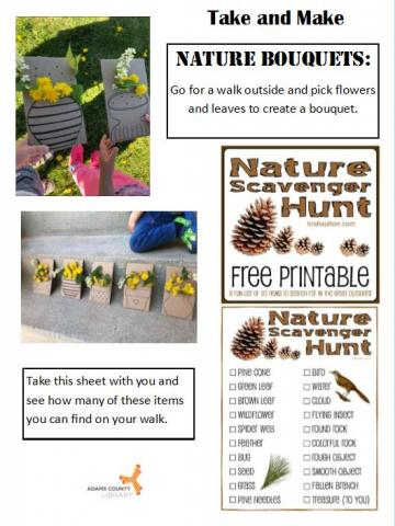 Nature Bouquet craft info sheet